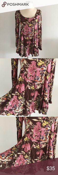 O Neil Floral Button Front Long-sleeve Dress Boho Size XS. In excellent 60de87972