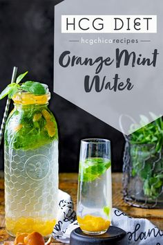 Phase 2 hCG Diet Refreshment Recipe: Orange Mint Water - 21 calories - hcgchicarecipes.com - drink meal - hcg diet phase 2 recipe hcg diet p2 recipe hcg protocol cold drink idea hcg diet cold beverage recipe hcg diet orange recipe hcg diet refresher recipe hcg diet refreshment recipe