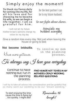 Wedding Words Of Advice | Wedding Gallery