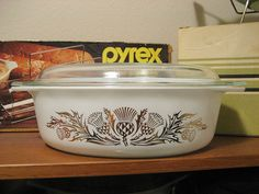 Golden Thistle Pyrex. never seen this one before.