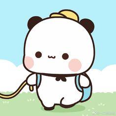 Cute Panda Cartoon, Cute Couple Cartoon, Cute Cartoon Pictures, Cute Love Cartoons, Baby Cartoon, Cute Images, Cute Bear Drawings, Cute Animal Drawings Kawaii, Cute Little Drawings