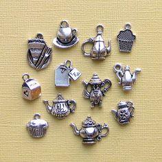 Té encanto colección tono plata antigua  12 por BohemianFindings