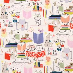 Alexander Henry reading animals fabric I love to read