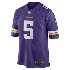 7eb6f32a94052 NFL Minnesota Vikings (Teddy Bridgewater) Men s American Football Home Game  Jersey - Purple