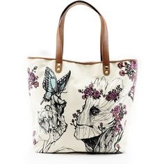 Loungefly x Groot Floral Tote ($64) ❤ liked on Polyvore featuring bags, handbags, tote bags, floral tote bag, handbags totes, tote handbags, flower print handbags and white handbags