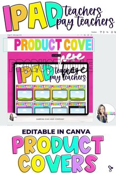 Get your teacher seller business back to school ready with updated Teachers Pay Teachers product covers in minutes with these editable Canva templates! These Canva templates are ready for you to change the title, add your product photo, your logo and you're ready to upload to Tpt. #backtoschooltemplate #tptseller #teacherseller #teacherspayteachers
