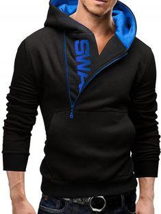Jofemuho Mens Zip Up Long Sleeve Casual Wing Print Hoodie Hooded Sweatshirts Jacket Coat