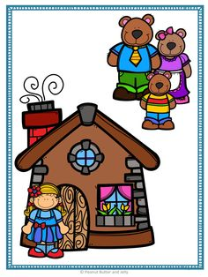 The Three Bears - A Fairy Tale Comprehension Unit - Jabber the Reteller Grandma Crafts, Spanish Lessons For Kids, Goldilocks And The Three Bears, Bear Theme, Classroom Posters, Picture Cards, Baby Scrapbook, Reading Strategies, School Colors