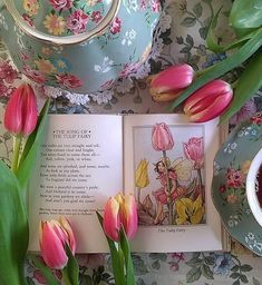 Tulip Colors, Spring Home, Pretty And Cute, Feeling Happy, Happy Weekend, Pink And Green, Tulips, Rose, Fairy
