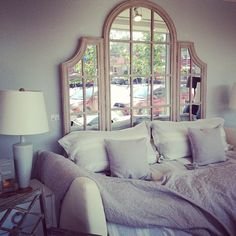 Mirrored Headboard - Au Lit Fine Linens
