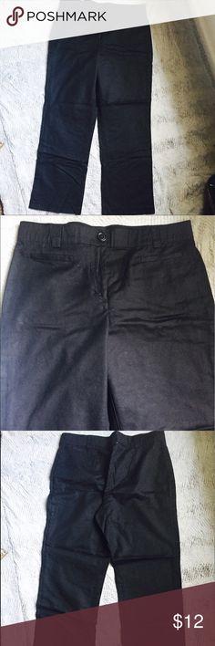 EUC Black Straight Leg Pants Great black pants. Perfect for work, hidden elastic waist Counterparts Pants