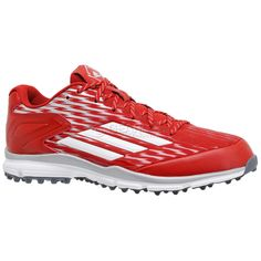 New Adidas Power Alley 3 Turf Mens Baseball Shoes Trainers : Red