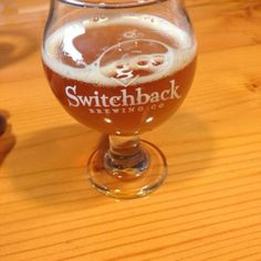 7/14/14- tasting round 2 at Switchback Brewing Company. Tried a flight of beers, enjoyed the Switchback Ale