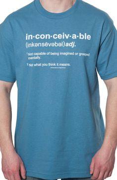 Matt-Inconceivable Definition Princess Bride T-Shirt-BOUGHT
