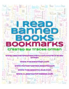 Banned Books Bookmarks Free Download--there's nothing like the appeal of contraband to inspire reading!