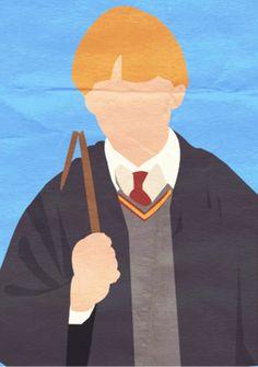 Harry Potter Fan Art: Harry Potter I Minimalist Poster - Ron Harry Potter Parts, Harry Potter Poster, Harry Potter Aesthetic, Harry Potter Fan Art, Harry Potter Painting, Harry Potter Artwork, Harry Potter Drawings, Harry Potter Wallpaper, Harry Potter Planner