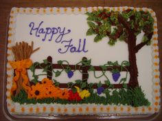 Birthday Cake with Fall Flowers Fall Birthday Sheet Cakes Birthday Sheet Cake Ideas Fall Birthday Sheet Cakes October Birthday Cake Cupcake Cake Designs, Cupcake Cakes, Cookie Designs, Cupcake Ideas, Postman Pat Cake, Sheet Cakes Decorated, Buttercream Fondant, Frosting, Icing