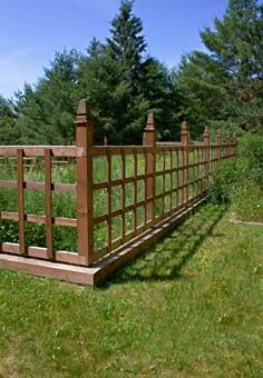 http://www.mobilehomerepairtips.com/fencingideas.php has some information on the types of fencing that can be installed around one's home.