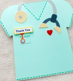Special Doctor or Nurse Handmade Thank You Card £4.00