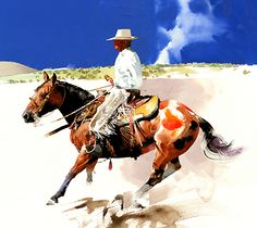 Don Weller, Oakley, Utah. This is Wade and Spade - Watercolor