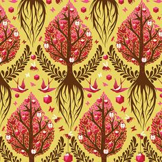 Tree of Life in Honey by Tula Pink Fat Quarter OOP & by BlissStash