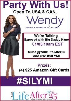 Join @YourLifeAfter25's Exposed & #SILYMI with @WendyWilliam's Twitter Party TODAY at 10am EST on Twitter #ad >