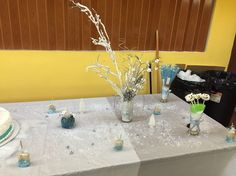 Winter themed cake table