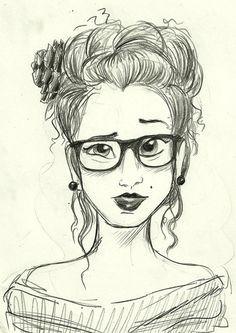 tumblr dibujos a lapiz hipster - Buscar con Google