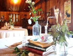 Add in a bit more steampunk inspiration, but overall very cute centerpieces