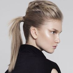 ponytail with a bouffant for layered hair