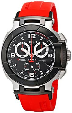 Tissot Men's T-Race Two-Tone Stainless Steel Watch with Red Rubber Band – Men's style, accessories, mens fashion trends 2020 Best Watch Brands, Luxury Watch Brands, Gents Watches, Sport Watches, Rolex Watches, Best Watches For Men, Cool Watches, Wrist Watches, Popular Watches