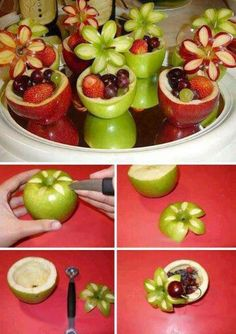 Apple flower bowls