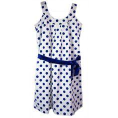 Naritva Blue Dots Neck Dress