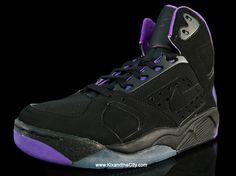 new product 64bee 17177 Shoe 9 Nike Air Flight Lite Black Purple (1991)