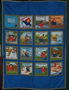 Large wet bag Paddington Bear by SlightlyBefuddled on Etsy ... : paddington bear quilt - Adamdwight.com