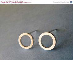 SALE Simple everyday stud earrings. Sterling by PoseidonsBooty
