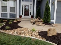 When it comes to landscaping materials, there are definitely many of them to choose from. For instance, this could be some rocks, stones, pebbles, gravel, mulch etc. Mulch is quite popular, especially the black mulch