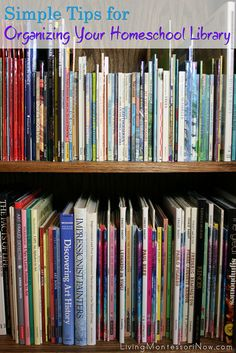 Have you wondered how to organize your kids' books at home? Whether you have a homeschool library or just want to organize any size of home library, I have some simple tips that worked to organize a huge home library through three moves and preschool through high school homeschooling.