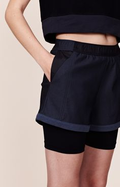 """KNOCK OUT"" - Layered Shorts 