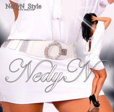 Fehér  strassz díszes kerek csatos gumis öv Style, Swag, Outfits