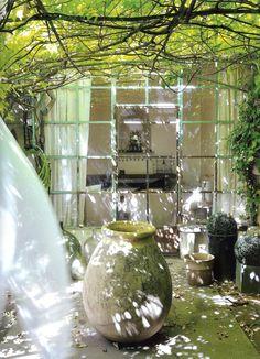Pascale Palun · A White Carousel | See more inspirational ideas at http://www.pinterest.com/homedsgnideas/winter-garden-home-design-ideas/