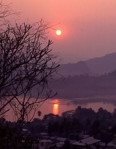 Sunset in Luang Prabang as Seen from the Temple Mount in Laos