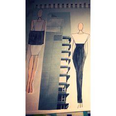 Architecture inspired design journal #fashion #architecture #student