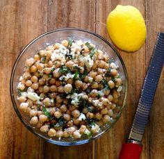 Recettes santé | Nutrisimple | Salade de pois chiches au feta et basilic