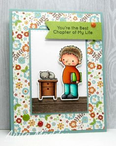 Good morning. Today I'm sharing a sweet card using a fun Birdie Brown stamp and die set.       I adorethe BB Our Story  stamp set. The im...