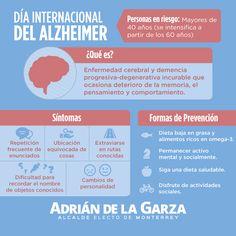 Es Día del Alzheimer, conozcamos más de esta enfermedad y brindemos nuestro apoyo y solidaridad a la población que la padece. Compartan! Adrián de la Garza.