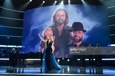 Singer Celine Dion performs onstage during 'Stayin' Alive: A GRAMMY Salute To The Music Of The Bee Gees' on February 14, 2017 in Los Angeles, California.