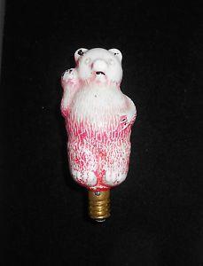 Vintage MCM Glass Teddy Bear Christmas Light Bulb Cover