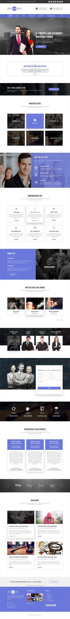 BD is wonderful premium #PSD template for #lawyer or law #firms websites download now➩  https://themeforest.net/item/law-firm-agency-bd-psd-template/19311019?ref=Datasata