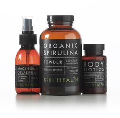 Kiki Health Natural Food Supplements on Packaging of the World - Creative Package Design Gallery Skincare Packaging, Cosmetic Packaging, Beauty Packaging, Black Packaging, Bottle Packaging, Organic Packaging, Medicine Packaging, Tabu, Natural Supplements